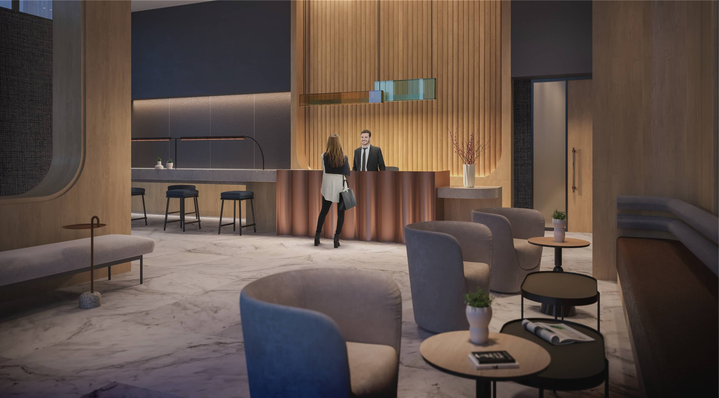 marling spring the tailor amenities lobby rendering